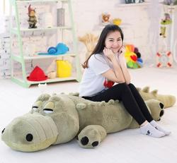New Arrived 1.7m Big size  Crocodile Plush Toy   Crocodile Soft Stuffed Doll Vey Soft Doll Plush Gift Toy Gift For Lovers 1pc