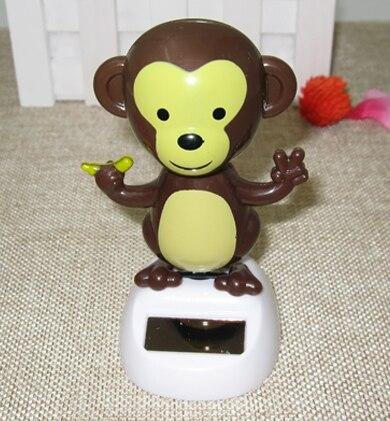 Menggelengkan Kepala Untuk Artikel Furnishing Kendaraan Interior Indah Bunga Mobil Surya Monyet Kecil Perlengkapan Dekorasi Tempat Boneka Kecil