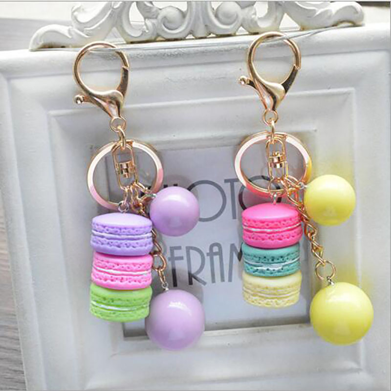Free Shipping New Bag Accessory Acrylic Macarons Parts Colors Ball Pendant 5 Colors Pink  Blue Yellow Purple G