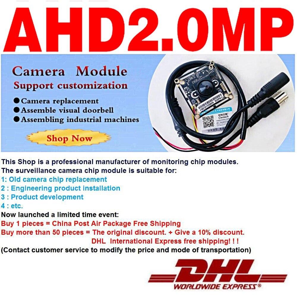 Free shipping 3000TVL 1920*1080P 3.7mm cone AHD-P CCTV HD mini Camera chip Module Circuit Board Finished Monitor modul product