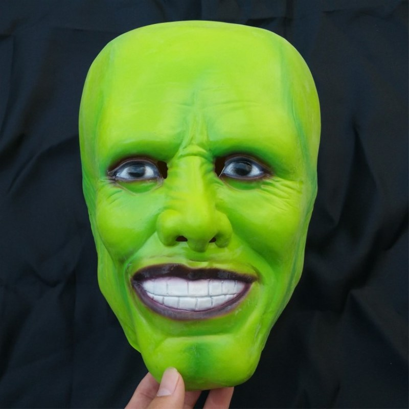 Free Shipping Eco-friendly Latex Jim Carrey Mask Halloween Carnival Masquerade Adult Fancy Dress Cosplay Costume