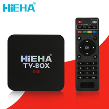 Hieha Android Tv Box Android 6.0 RK3229 Quad Core 1.5GHz Smart Tv Box 1GB 8GB Android Tv 4K HD Wifi Kodi Android Tv Box PK X96