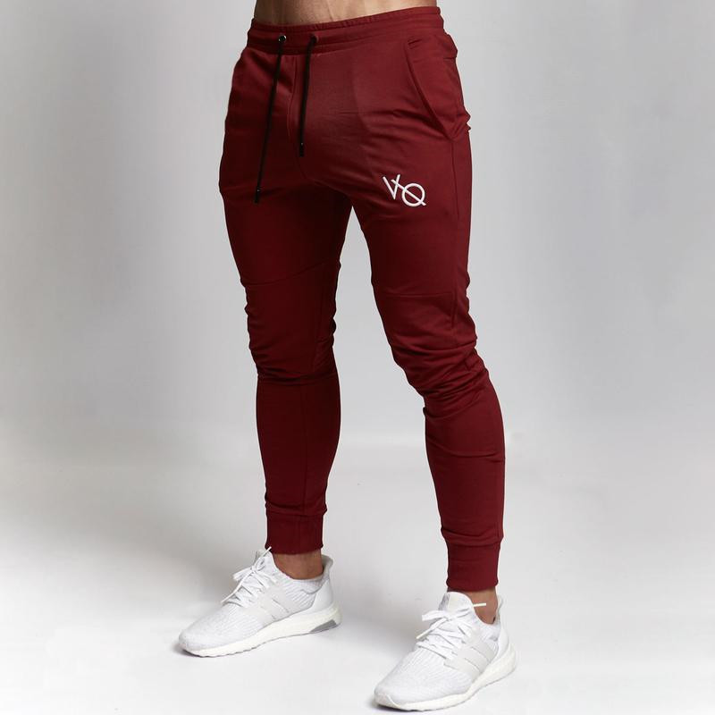 Male Fitness Casual Pant Sweatpants Mens Joggers Bodybuilding Workout Drawers Casual Elastic Cotton Brand Trouserslong Pants(China)