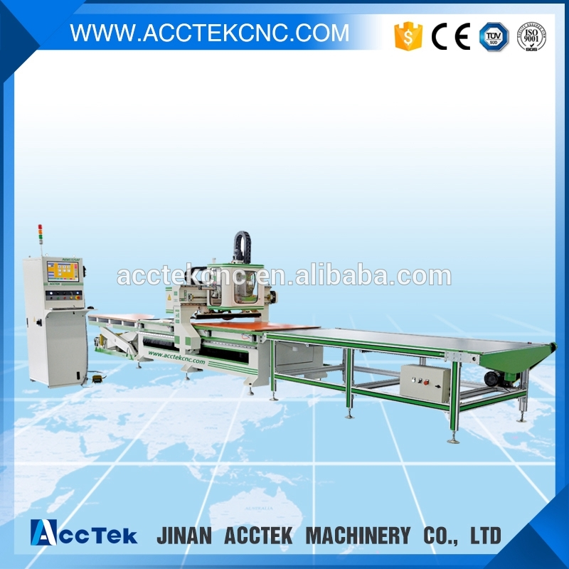 Automatic too change auto Feeding Nesting CNC Router Machine 1325