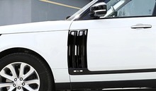 For Land Rover Range Rover Vogue 2014-2017 ABS Chrome Car Side Door Air Vents Kit Trim Accessories Set of 2pcs 4pcs for land rover range rover vogue l405 2013 2017 black glossy car abs chrome interior door decoration strip trim accessories