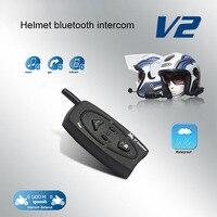 VNETPHONE V2 500 Bluetooth Motorcycle Helmet Intercom 500M Interphone 2Riders Walkie Talkie For Skiing Snowobile Cycling