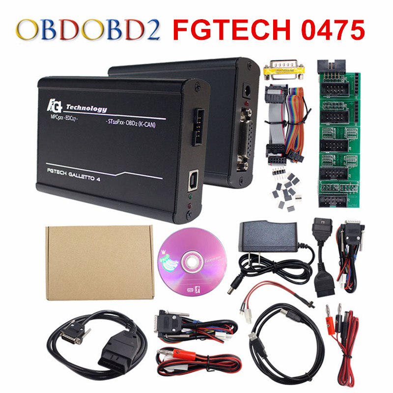 Full Chip Fgtech 0475 Galletto 4 Master V54 Support BDM OBD Master Online FG Tech FW 0475 Chip Tuning For  Car Truck
