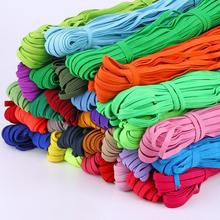 Colorful Elastic Bands 6mm Rope Rubber Band Line Spandex Ribbon Sewing Lace Trim Waist Band Garment Accessory