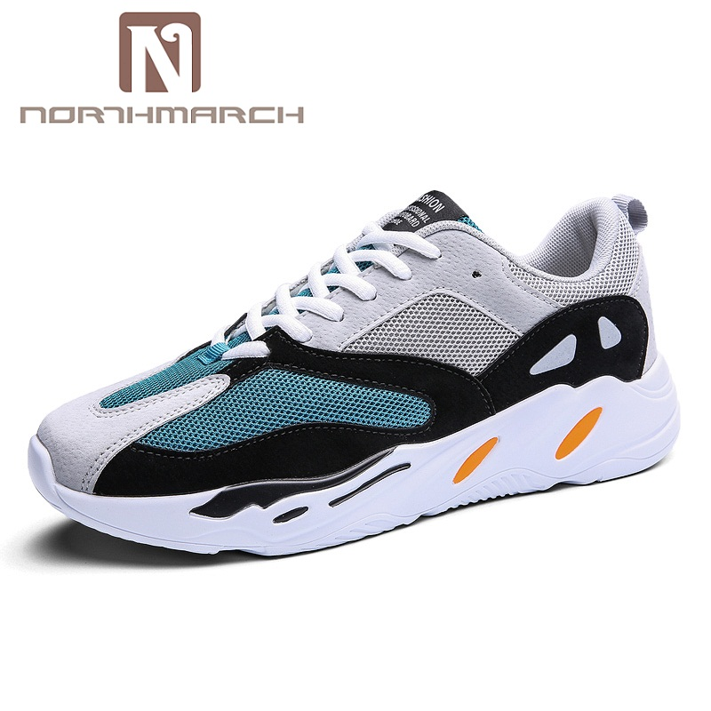 NORTHMARCH Summer Men Sneakers Fashion Mesh Tenis Light Breathable Men Shoes 2018 Lace-Up Men Casual Shoes Zapatos Hombre