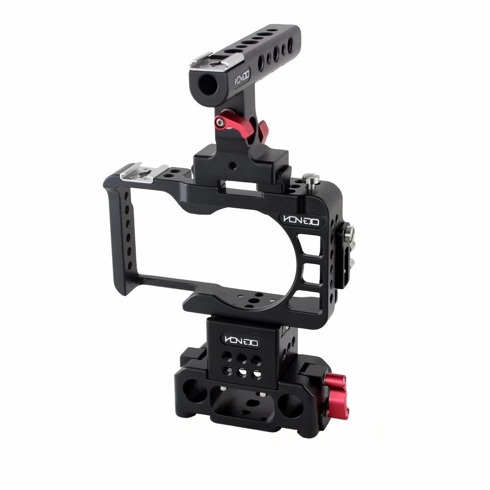 NEW 15mm A6300 A6500 Rig Kit Baseplate Cage Quick Release top handle for SONY A6300 camera Tilta Movcam jtz dp30 camera baseplate shoulder support rig 15mm rod kit for sony fs5 pxw fs5