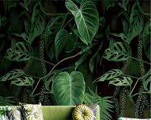 Beibehang Custom large mural tropical rain forest palm banana leaf living room TV backdrop wall 3d wallpaper pepapel de parede