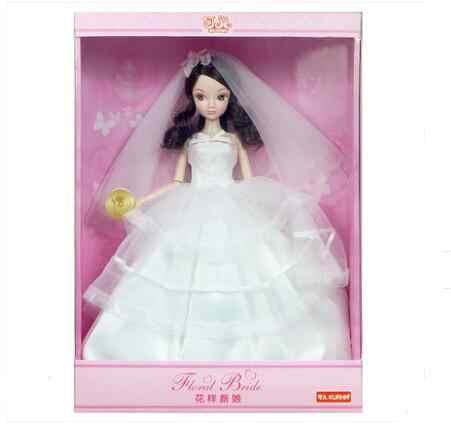 Especial Original Kurhn Bonecas de Moda Boneca Para Meninas Brinquedos de Presente de Casamento de Noiva Coleção #9096 Sem Flor