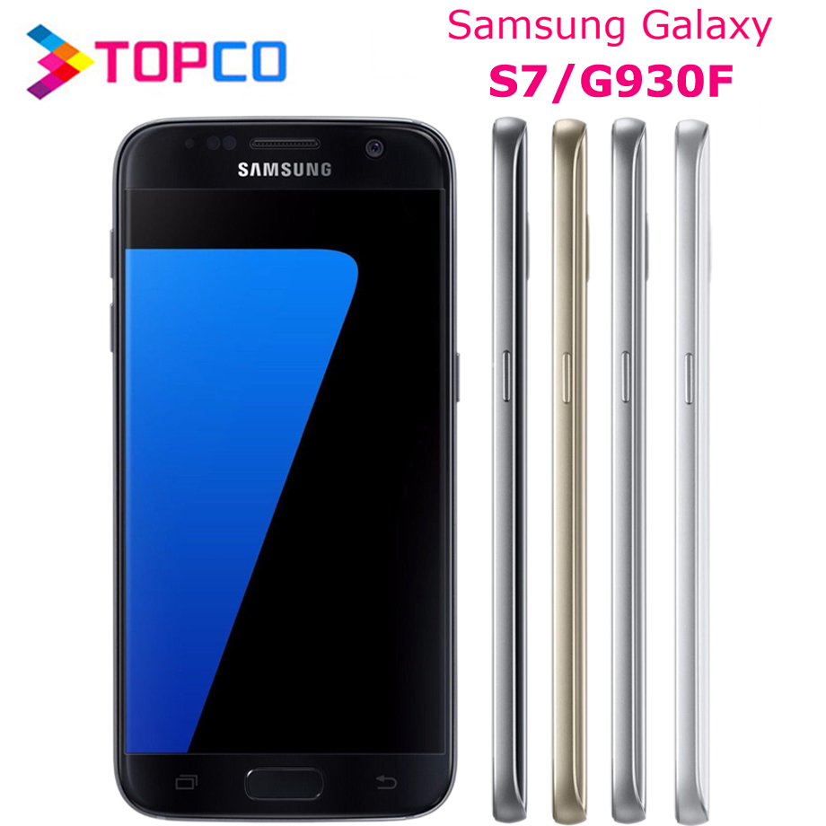 "Samsung Galaxy S7 G930F Original Unlocked 4G LTE Android Mobile Phone Exynos Octa Core 5.1"" 12MP&5MP RAM 4GB ROM 32GB WIFI GPS