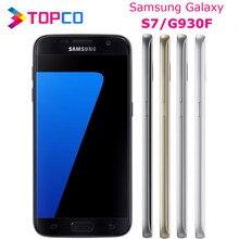 Оригинальный разблокированный Samsung Galaxy S7, G930F, мобильный телефон 4G, LTE, восьмиядерный Exynos, 5,1 дюйма, 12 Мп + 5 Мп, 4 Гб ОЗУ, 32 Гб ПЗУ, Wi-Fi, GPS