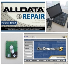 2017 Alldata auto repair software All data 10.53+ Mitchell on demand 2015 installed well in 2G X200T Touch Screen Laptop