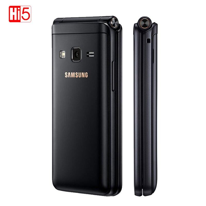 Unlocked Samsung Galaxy Folder 2 G1650 2G RAM 16GB ROM Original Quad Core 8.0MP Dual sim Flip SmartPhone 4G LTE  Mobile Phone