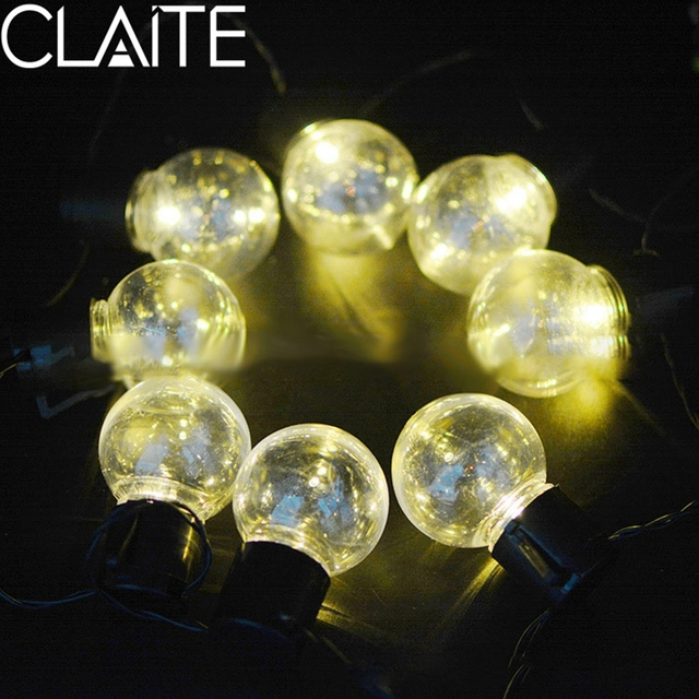 CLAITE Solar Light String 10 LED Bulb 3.5M Waterproof Chain Outdoor Decorated  Lamp Solar Fairy Lights String For Home Garden