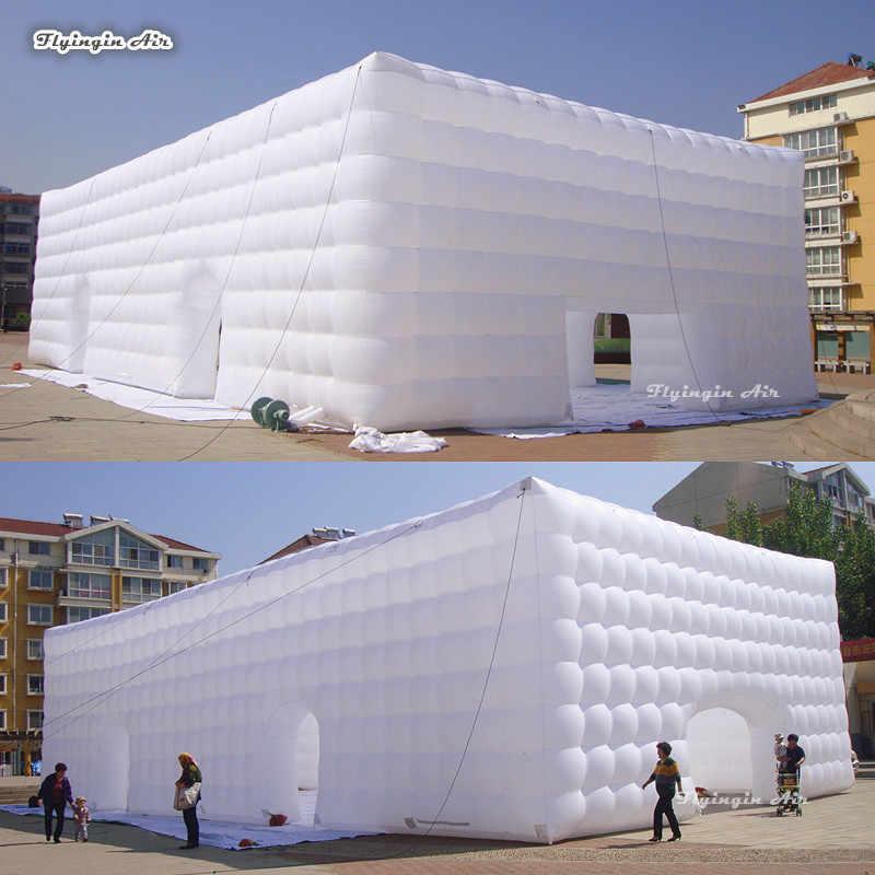 Barraca inflável branca grande do cubo para anunciar a exibição e o evento da exposição barraca personalizada do famoso 20m * 10m * 5m do casamento e da festa