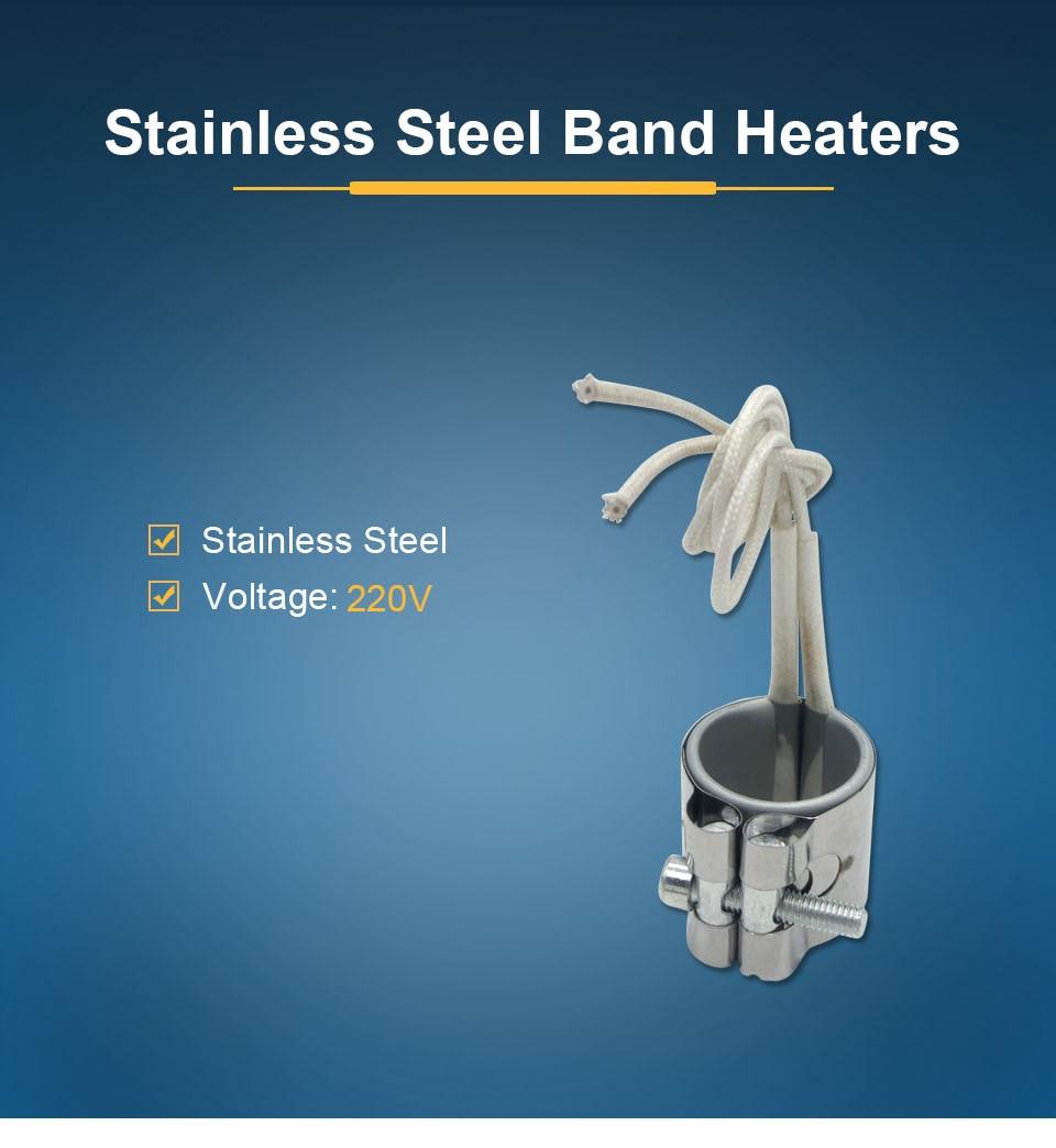 LJXH 2 шт. нагревательная Полоса нержавеющая сталь мощность 110 Вт/130 Вт/150 Вт 220 В внутренняя Dia.30mm высота 40 мм/45 мм/50 мм для электронного