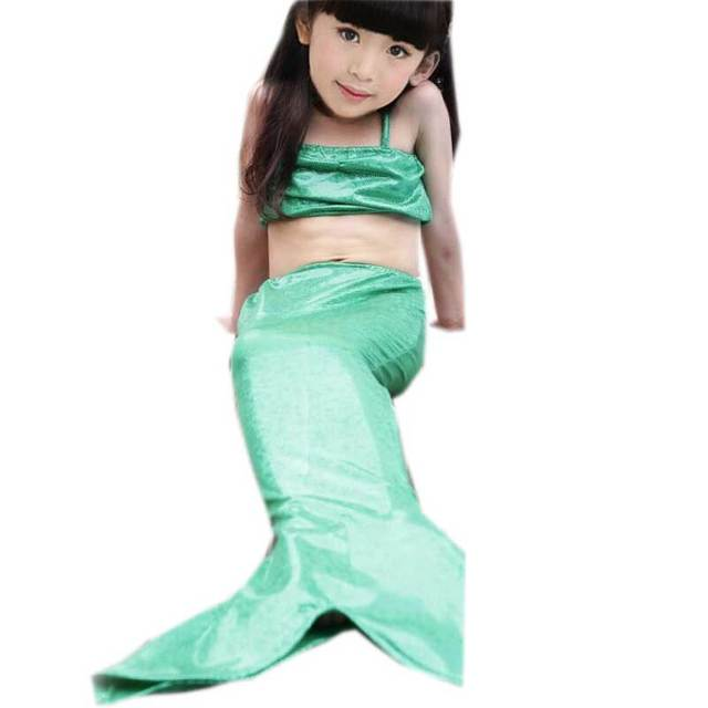 children mermaid tail cosplay costumes pink bule little girl halloween costume carnival costume swimwear beach kids