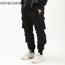 VFIVEUNFOUR 2019 New Arrivals pants street wear hip hop pockets joggers cargo pants men track pants trousers  mens clothing
