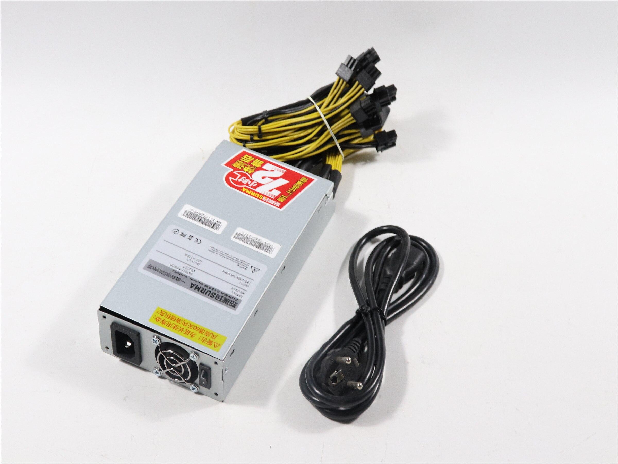 Neue BTC LTC DASH ZEC Miner 2150W Netzteil netzteil Für Antminer S9 S9SE S9k T9 + L3 + e3 Z9 Z11 Ebit E9i E10.2 E110.3