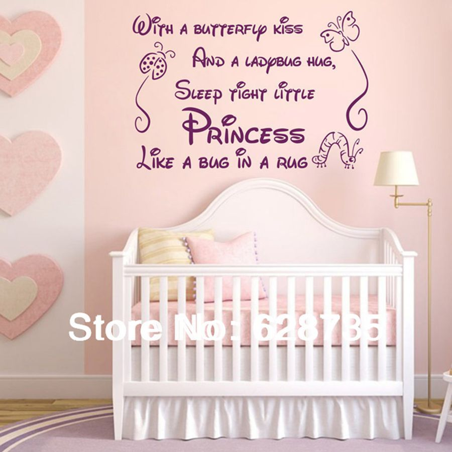 Poem Wall Decals Removable Art Vinyl Baby Girl Wall Stickers For Nursery  Girl Bedroom Decor Free Shipping In Wall Stickers From Home U0026 Garden On ...