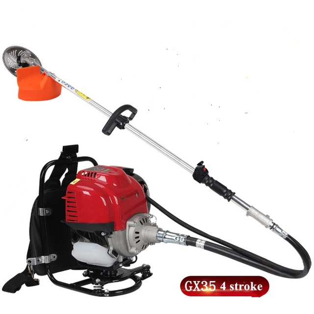 US $93 06 6% OFF|2019 NEW MODEL GX35 motor,4 stroke Big Back pack brush  cutter,grass trimmer,whipper snipper-in Grass Trimmer from Tools on