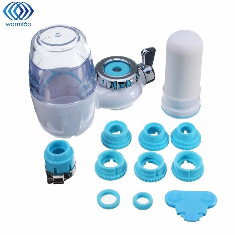 Water Purifier Faucet Fluoride Filter Ceramic Cartridge Kitchen Tap Filter White Transparent Home Water Treatment Appliances цена и фото