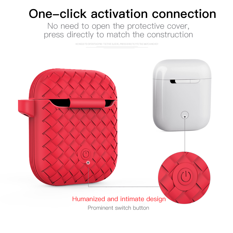 !ACCEZZ Bluetooth Wireless Earphone Case For Apple Airpods Accessory Wireless Headphones Accessories Portable With Charging Box (8)