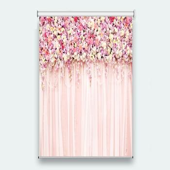Fashion beautiful roller blinds for room window customized size Flower vine roller blinds Sunscreen Roller Blinds