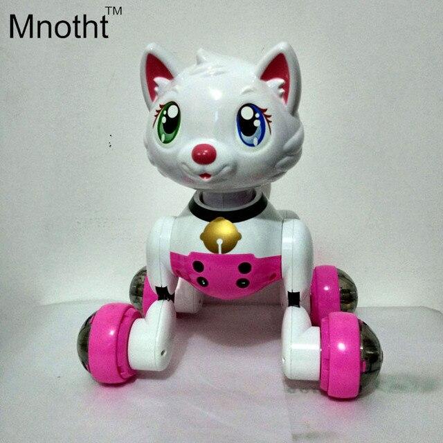 Робот-Кошка Игрушка Электронный Кот Игрушки Для Детей Голосовое Управление Игрушка Электрический Pet Программа Робот Танцы Свет Прогулка Многофункциональный