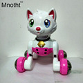 Robot Cat Toy Electronic Cat Toys For Kids Voice Control Toy Electric Pet Programme Robot Dancing Light Walk Multi Function