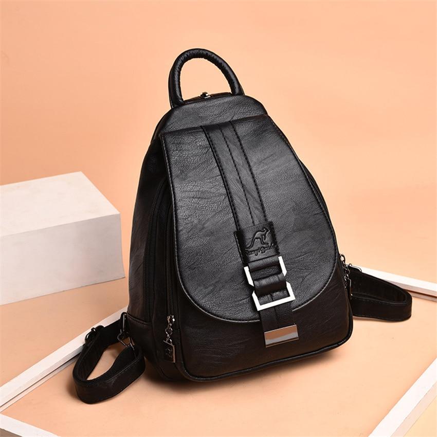 HTB1hcKaXUjrK1RkHFNRq6ySvpXaj New 2018 Women Leather Backpacks Vintage Shoulder Bag Winter Female Backpack Ladies Travel Backpack Mochila School Bags For Girl