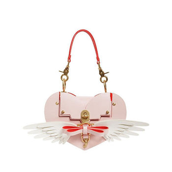 Sweet Lolita Kawaii Girl Heart with Wings Bowknot Handbag Crossbody Shoulder Bag