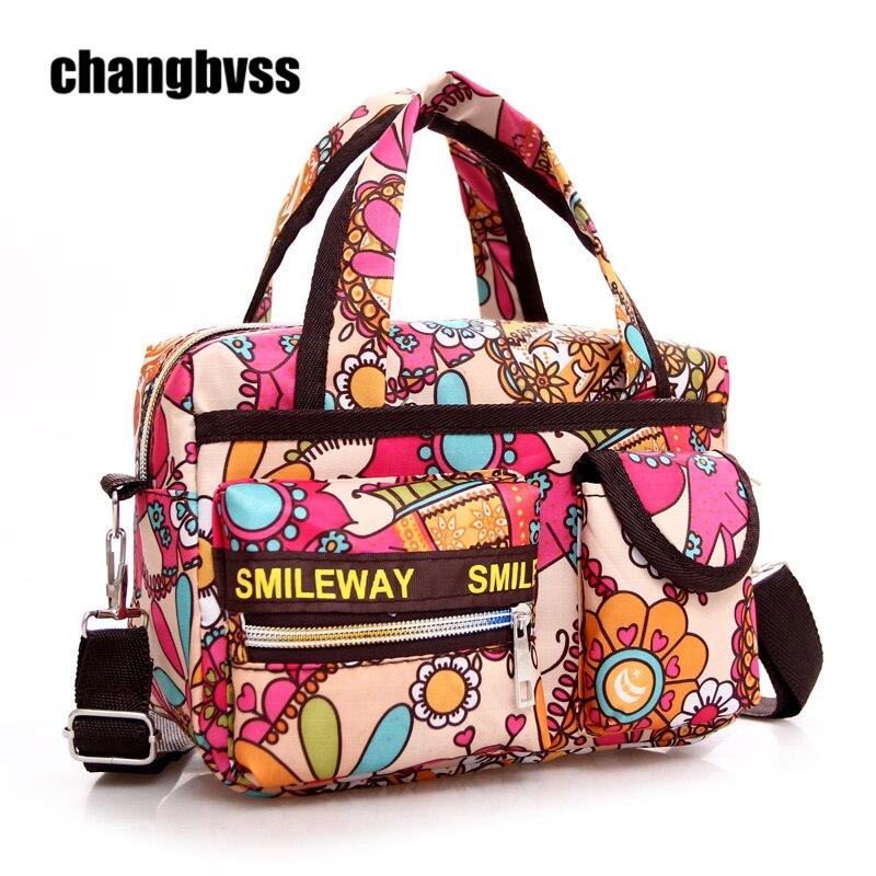 Color Flower Pattern Mini Women Travel Shoulder Bag Mommy Maternity Bag Baby Diaper Nappy Changing Bags sac a langer maternite