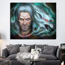 The Witcher 3 Geralt Of Rivia Art HD Canvas Painting Poster Prints Marble Wall Art Painting Decorative Picture Modern Home Decor все цены