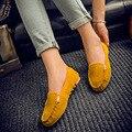 Venda quente mulheres sapatos da moda sapatos casuais deslizamento de verão em cores doces mulheres sapatos baixos mocassins rebanho senhoras confortáveis sapatos DT81