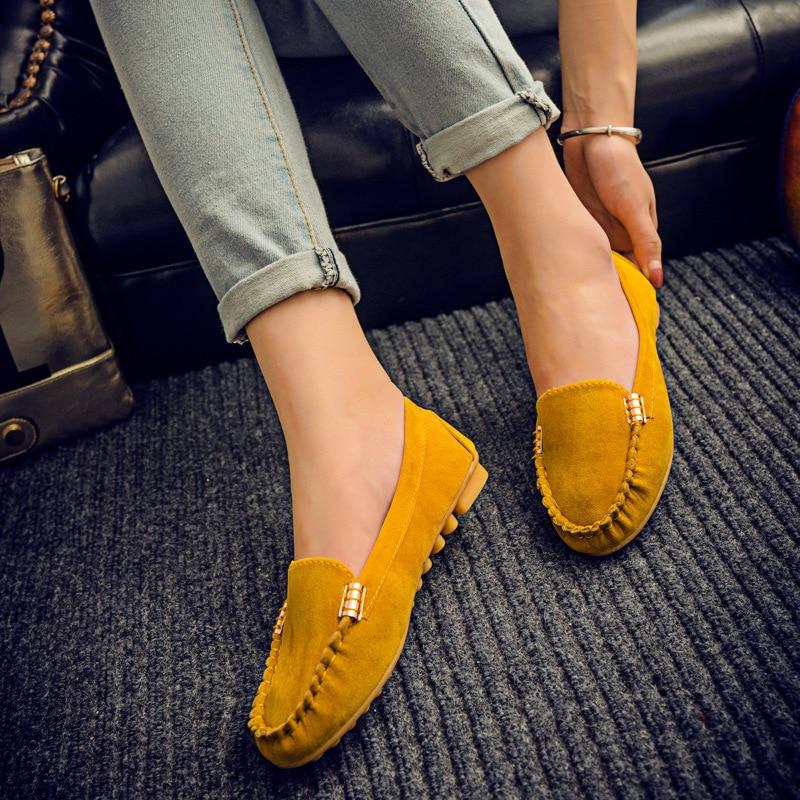 Venta caliente de las mujeres zapatos casuales de la moda de deslizamiento de ve