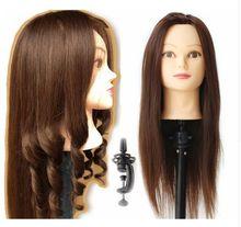 85%天然毛人形ヘッドで毛練習ヘッド毛練習