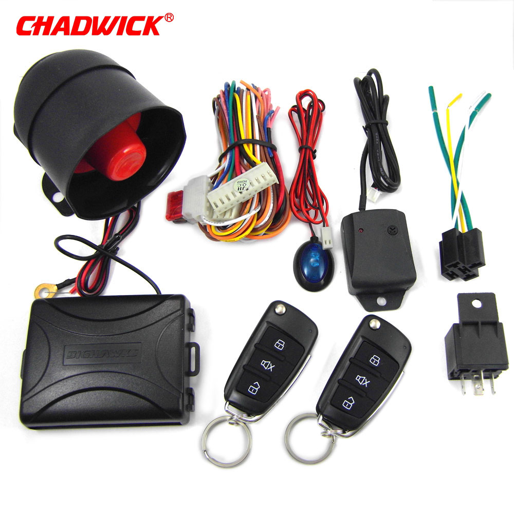 Image 5 - CHADWICK 8118 for Mitsubishi #7 flip key Car Alarm System withSiren one Way Auto Security Keyless Entry  vehicle anti theft-in Burglar Alarm from Automobiles & Motorcycles