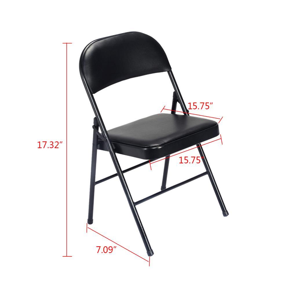 4 pcs Cadeiras Dobráveis Portáteis Para A Pesca Ao Ar Livre Barraca de Camping Cadeiras Assentos PVC Almofada Do Encosto E Preencher Com Esponja Dentro de Casa - 6