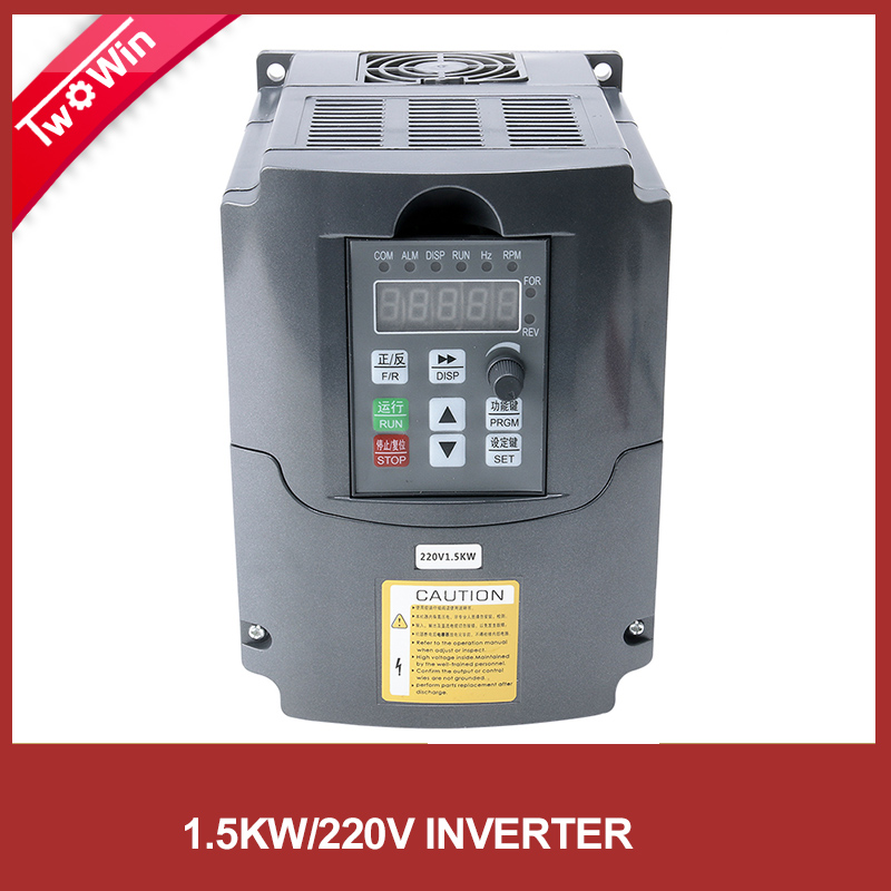 220v 1 5kw inverter hj vfd spindle inverter single for How to convert 3 phase motor to single phase 220v