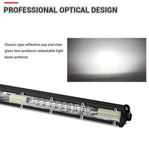 Image 5 - DERI haz de luz de 10 pulgadas y 20 pulgadas, Combo de haz, barra de luz LED ultradelgada, barra de luz LED recta y delgada, luces de trabajo de una hilera