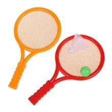 Red Children Kids Play Game Plastic Tennis Badminton Racket Sports Toy Set Gift