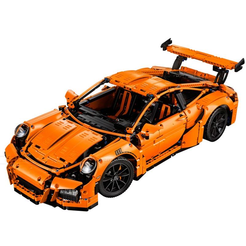 New LEPIN Compatible 20001 technic series 911 GT3 RS Race Car Model Building Kits  Blocks Bricks Compatible 42056 Boys Gift lepin 20005 2793pcs technic series model building block bricks compatible with boys toy gift compatible legoed 42023
