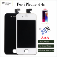 Mobymax New All Test Work Perfect LCD Display For IPhone 4 4s Touch Screen Digitizer Assembly