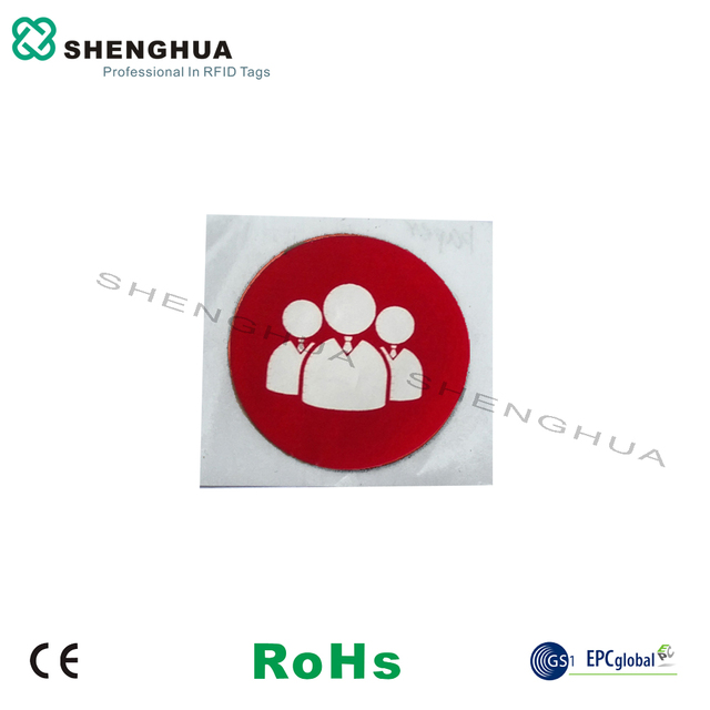 6pcs/pack Logistics Management Passive HF RFID Tag NFC Label Sticker 144 bytes diam 25mm Low Cost With 14443A Protocol