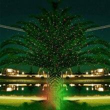 Açık hareketli tam gökyüzü yıldız lazer projektör ışık noel yeşil ve kırmızı LED sahne ışığı açık peyzaj çim bahçe lazer ışığı