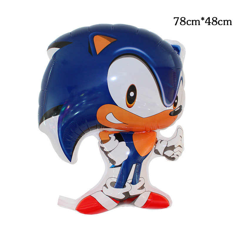Gratis Verzending 1Pcs Sega Sonic The Hedgehog Super Hero Dubbelzijdig Folie Ballon Party Ballonnen Decoratie Benodigdheden Video Game